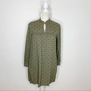 ZARA long sleeve babydoll tunic dress